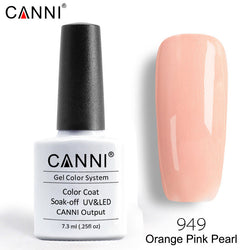 949 – CANNI Premium Nail Gel Polish Colour Pearl Orange Pink