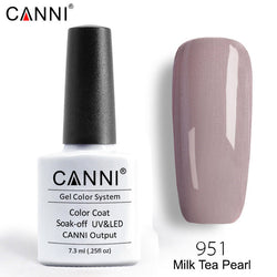 951 – CANNI Premium Nail Gel Polish Colour Pearl Milk Tea