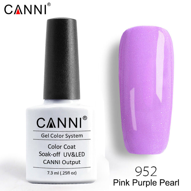 952 – CANNI Premium Nail Gel Polish Colour Pearl Pink Purple