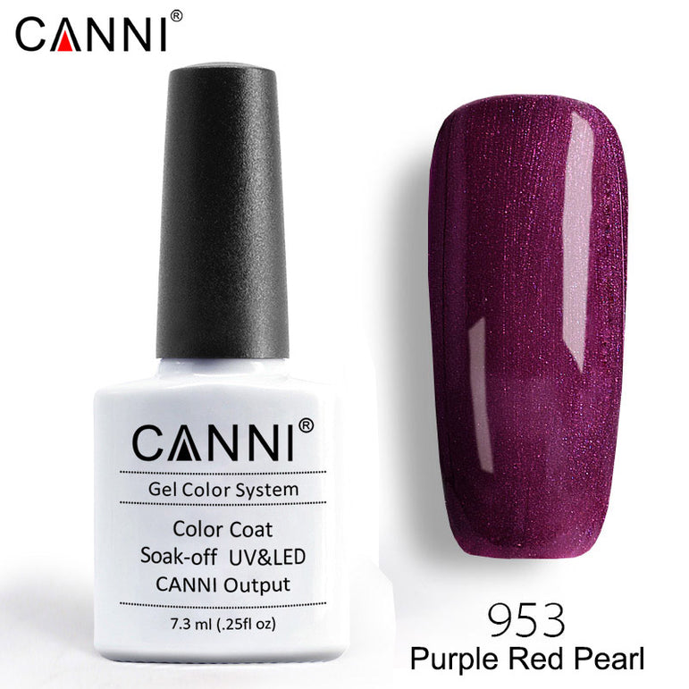 953 – CANNI Premium Nail Gel Polish Colour Pearl Purple Red