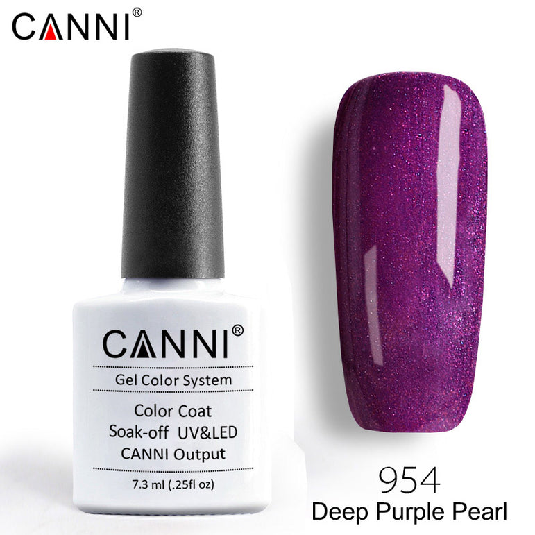 954 – CANNI Premium Nail Gel Polish Colour Pearl Deep Purple