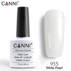 955 – CANNI Premium Nail Gel Polish Colour Pearl White