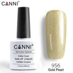 956 – CANNI Premium Nail Gel Polish Colour Pearl Gold