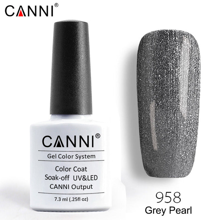 958 – CANNI Premium Nail Gel Polish Colour Pearl Grey
