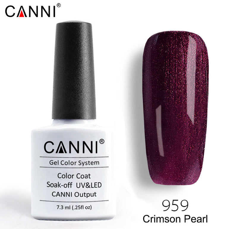 959 – CANNI Premium Nail Gel Polish Colour Pearl Crimson