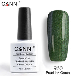 960 – CANNI Premium Nail Gel Polish Colour Pearl Ink Green