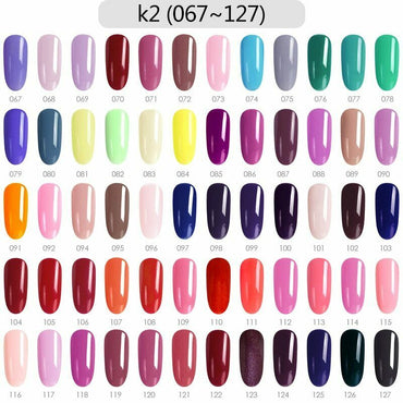 CANNI Nail Gel Kit 60pcs / Set K2 (Shade# 67 to 127)