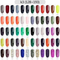CANNI Nail Gel Kit 60pcs / Set K3 (Shade# 128 to 193)
