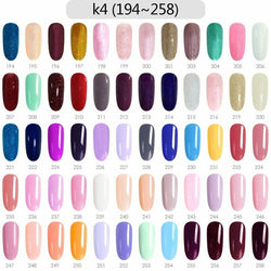 CANNI Nail Gel Kit 60pcs / Set K4 (Shade# 194 to 258)