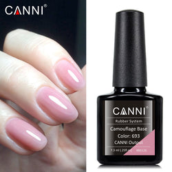 CANNI Long Lasting Nude Pink Camouflage Rubber Base Coat Nail Gel 7.3ml