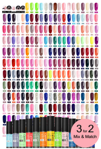 Canni Classic Range 5ml Soak Off UV / LED Nail Gel Polish Varnish - Shade 001 to 100