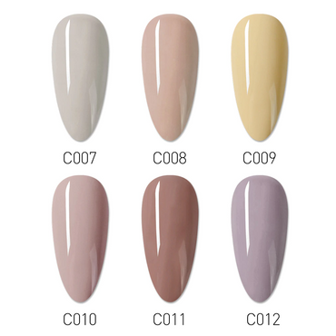 CANNI Nail Gel Nude Skin Series Shade Card