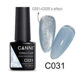 CANNI Cold Grey Series Series UV Nail Gel Polish - 8ml