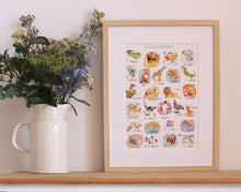 Load image into Gallery viewer, Animal Alphabet Giclée Art Print
