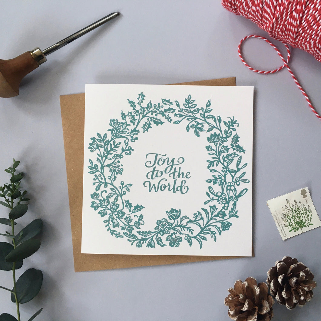 Wreath Illustrated Greetings Card