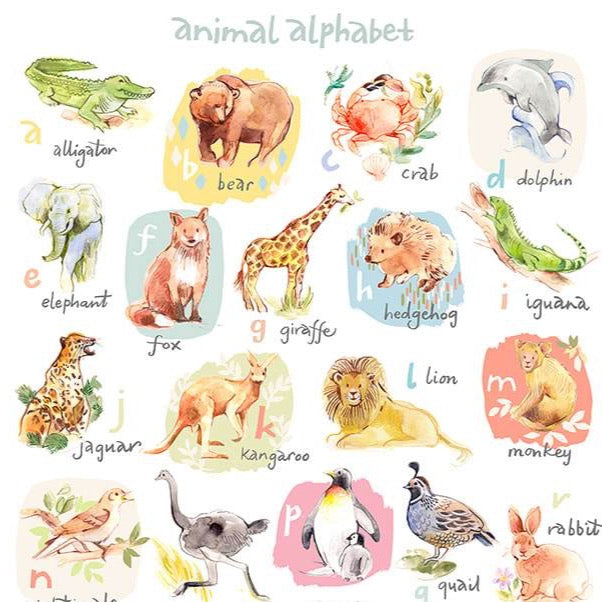 Animal Alphabet Giclée Art Print