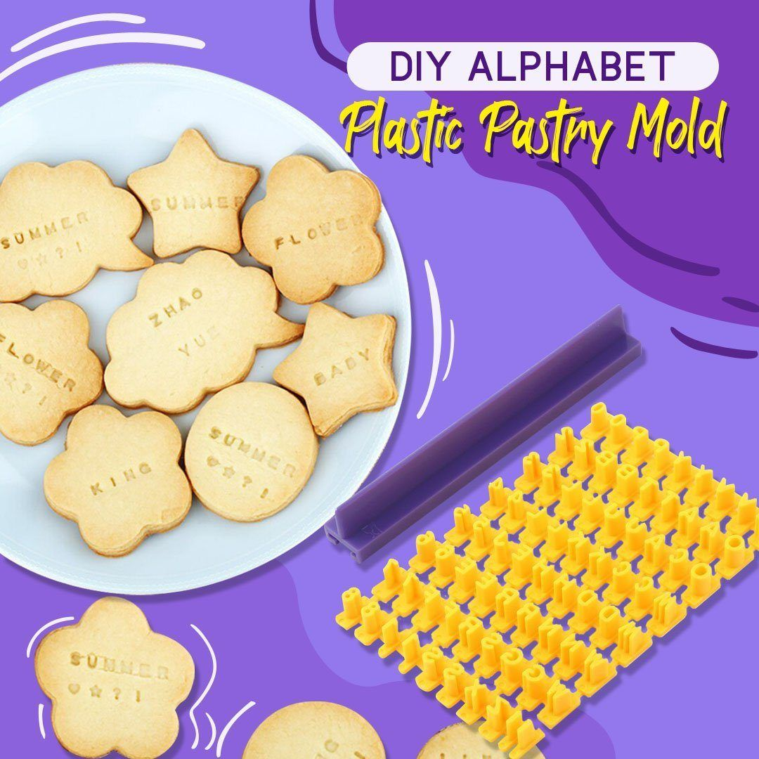 DIY Alphabet Plastic Cake Mould