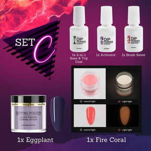 Fluorescent Nail Dipping Powder Kit