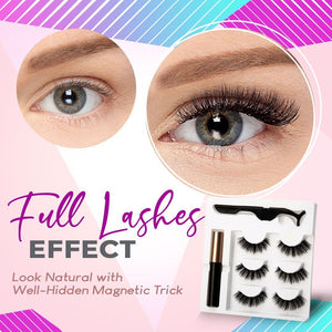Next-Level Magnetic Eyelashes and Eyeliner [3-Pair Set]