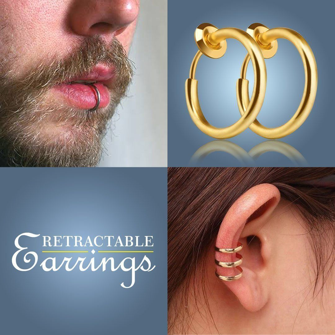 Non-Piercing Septum Earrings Hoop