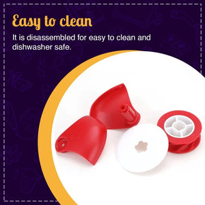 Decorating Plunger and Pastry Wheel Cutter Set