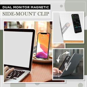 Dual Monitor Magnetic Side-Mount Clip