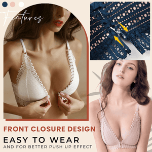 Wirefree Front Closure Brassiere