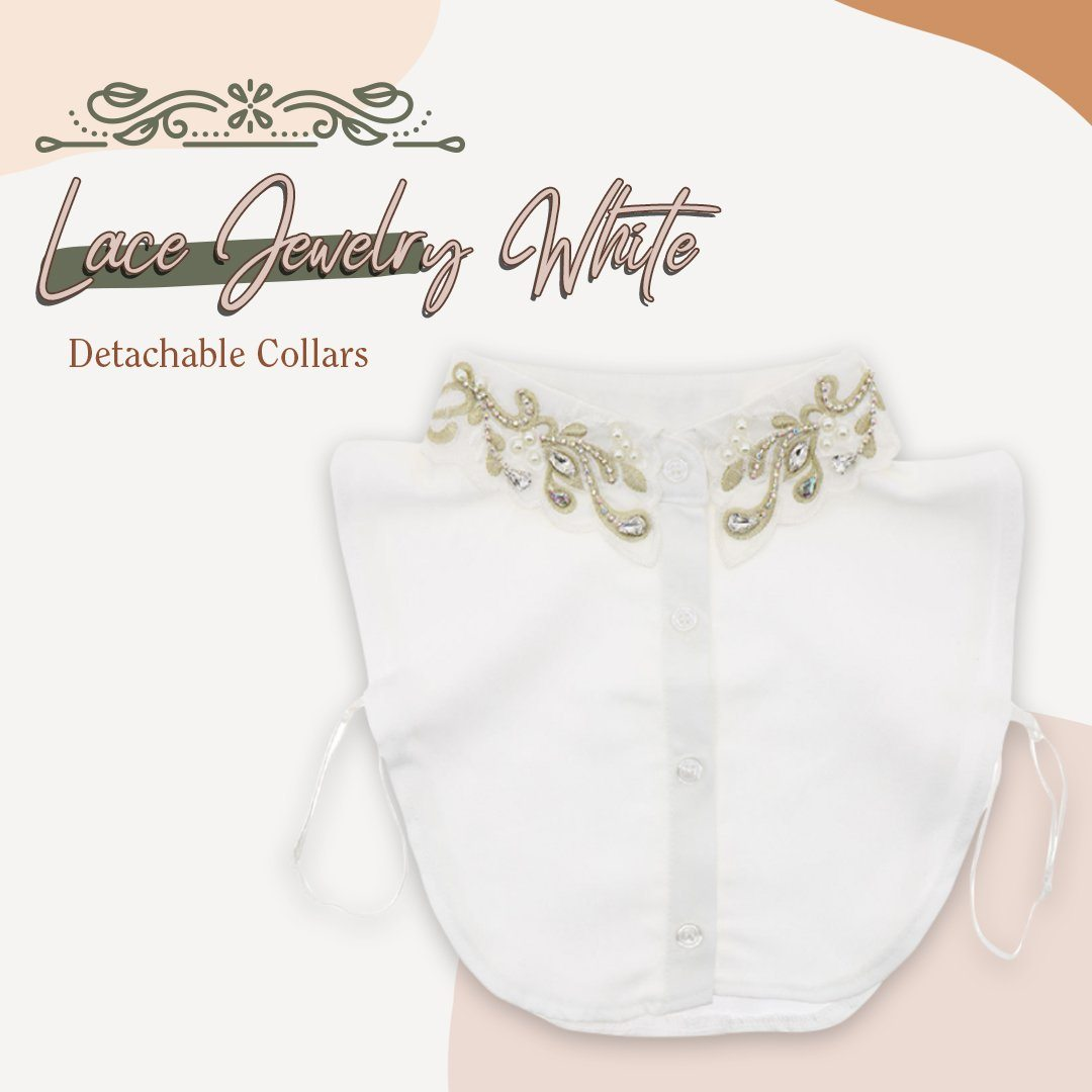 Stylish Blouse Detachable Lace Collar
