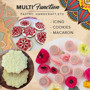 Mandala Lace Pattern Embossing Stamp Set