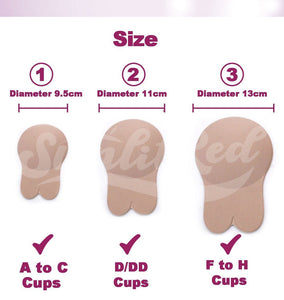 Reusable Lift Up Invisible Bra Tape - 2 Pair