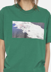 """PILI AND BIANCA"" ICE PRINT GREEN T-SHIRT"