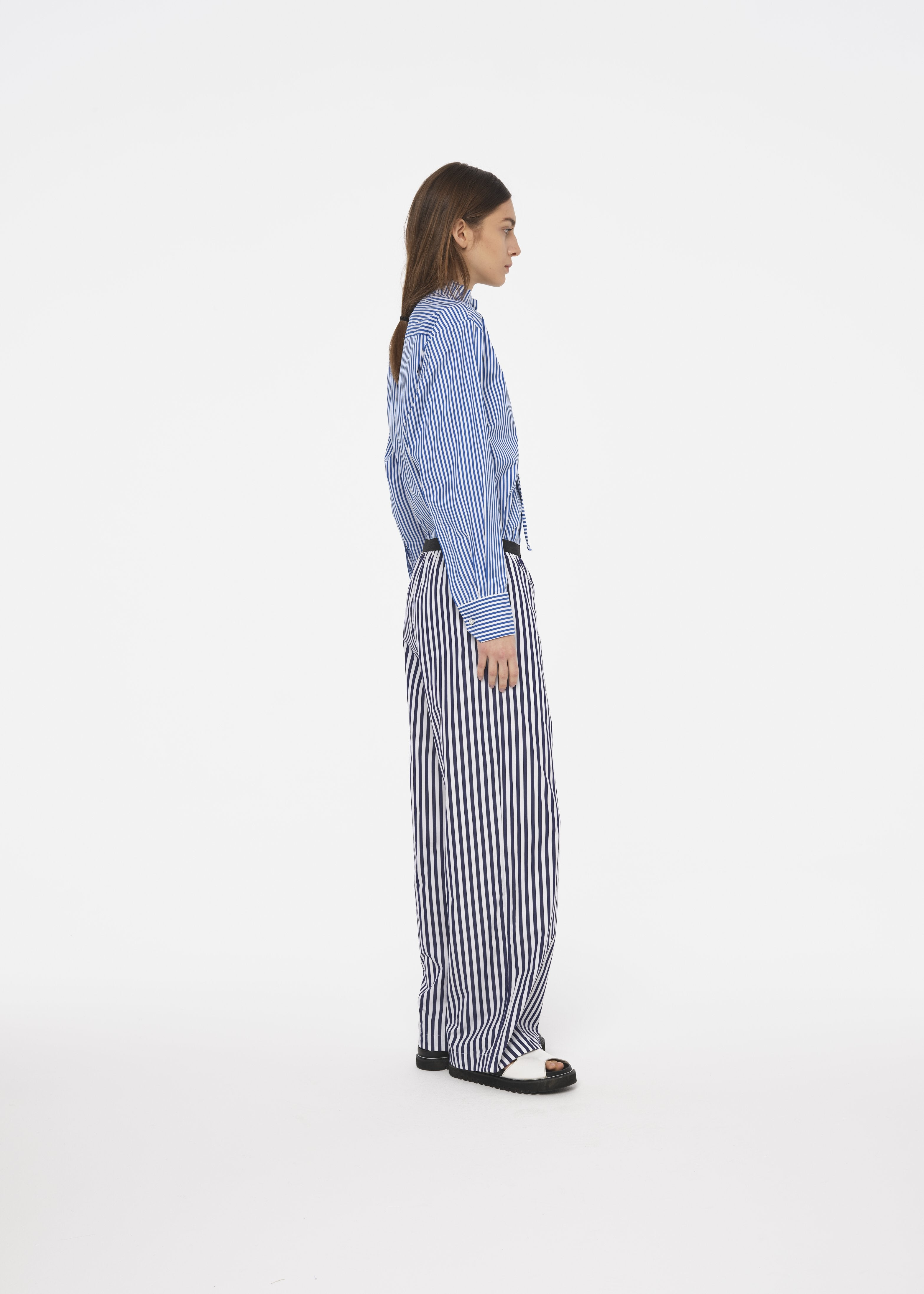 COTTON BLUE STRIPED TROUSERS
