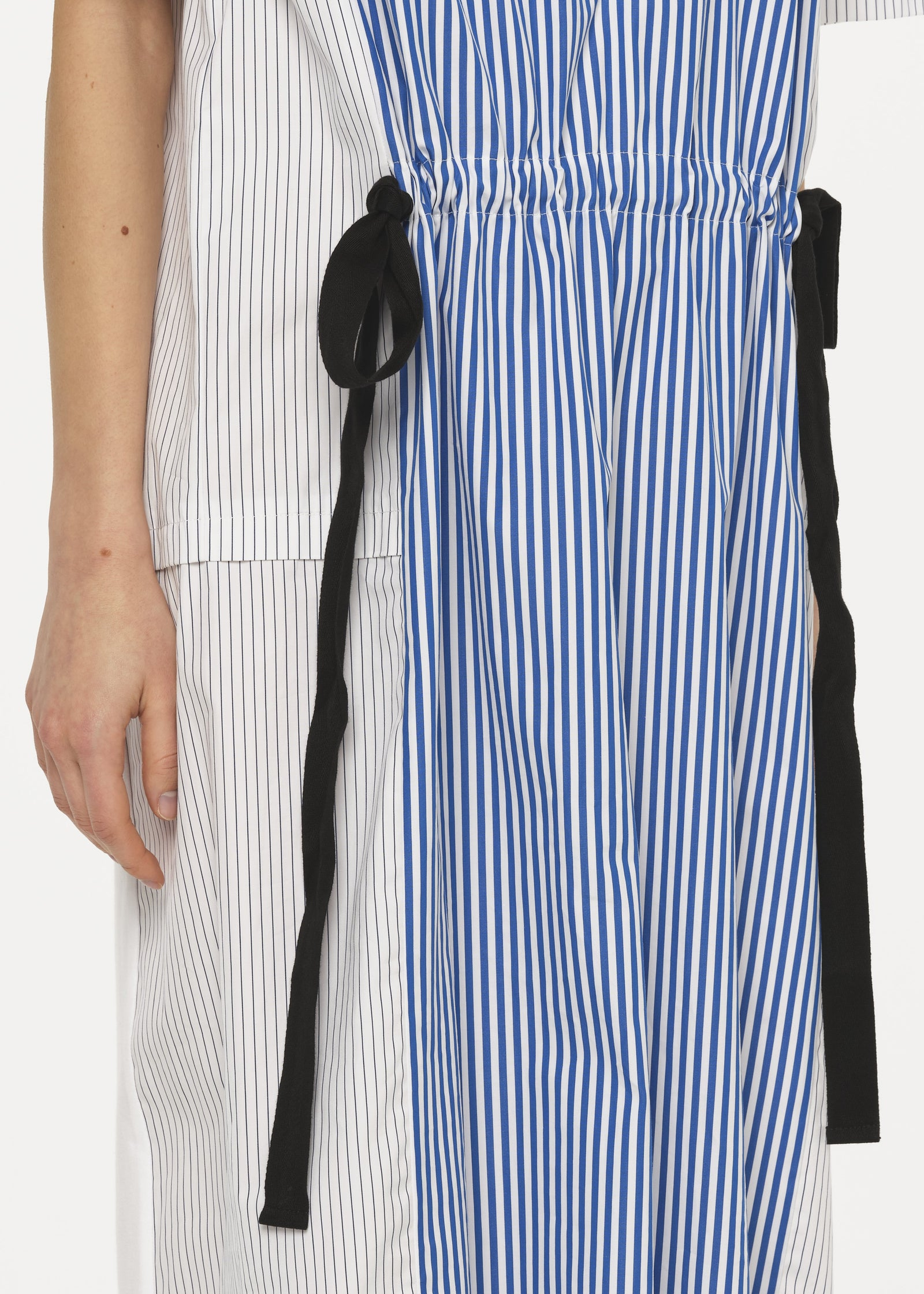 STRIPED PANEL JERSEY DRESS