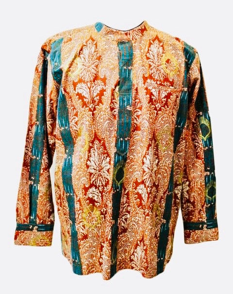 Afro full print long sleeve shirt