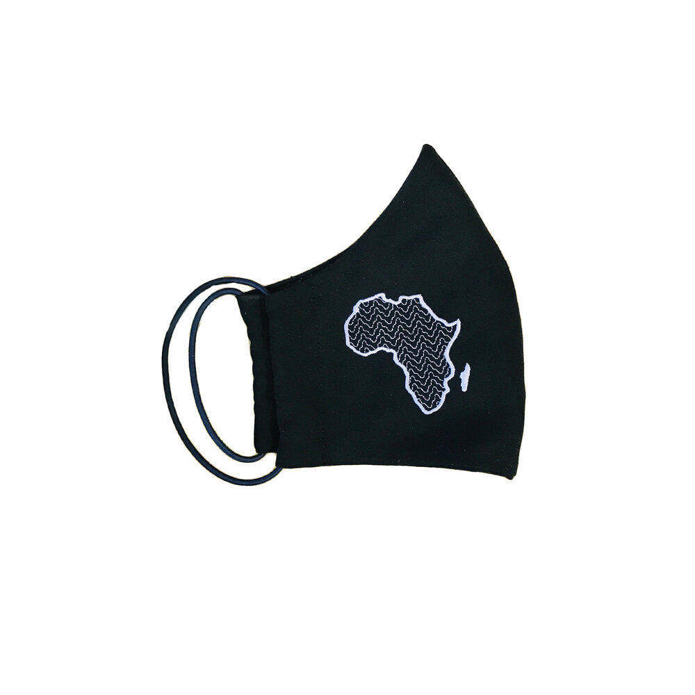 Embroidered African Map Face mask