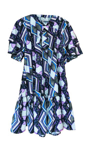 Angie Woodin metallic print dress