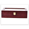 12 Slots Glossy Cherry Wood Watch Display Storage Case