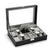 8+2 Slots Matte Black Watch Display Storage Case