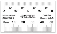 "Load image into Gallery viewer, 50 mm / 2"" Dual Scale Radiopaque Ruler"