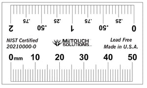 "50 mm / 2"" Dual Scale Radiopaque Ruler"