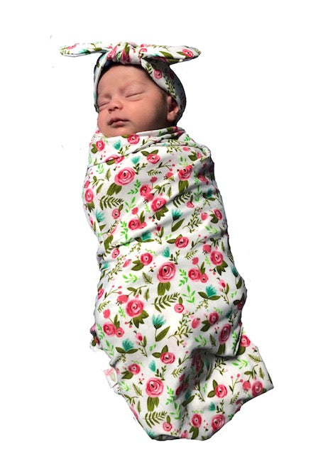 Infant swaddle and Bow Sets