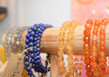 Load image into Gallery viewer, Bees and Beads Crystal Bracelets