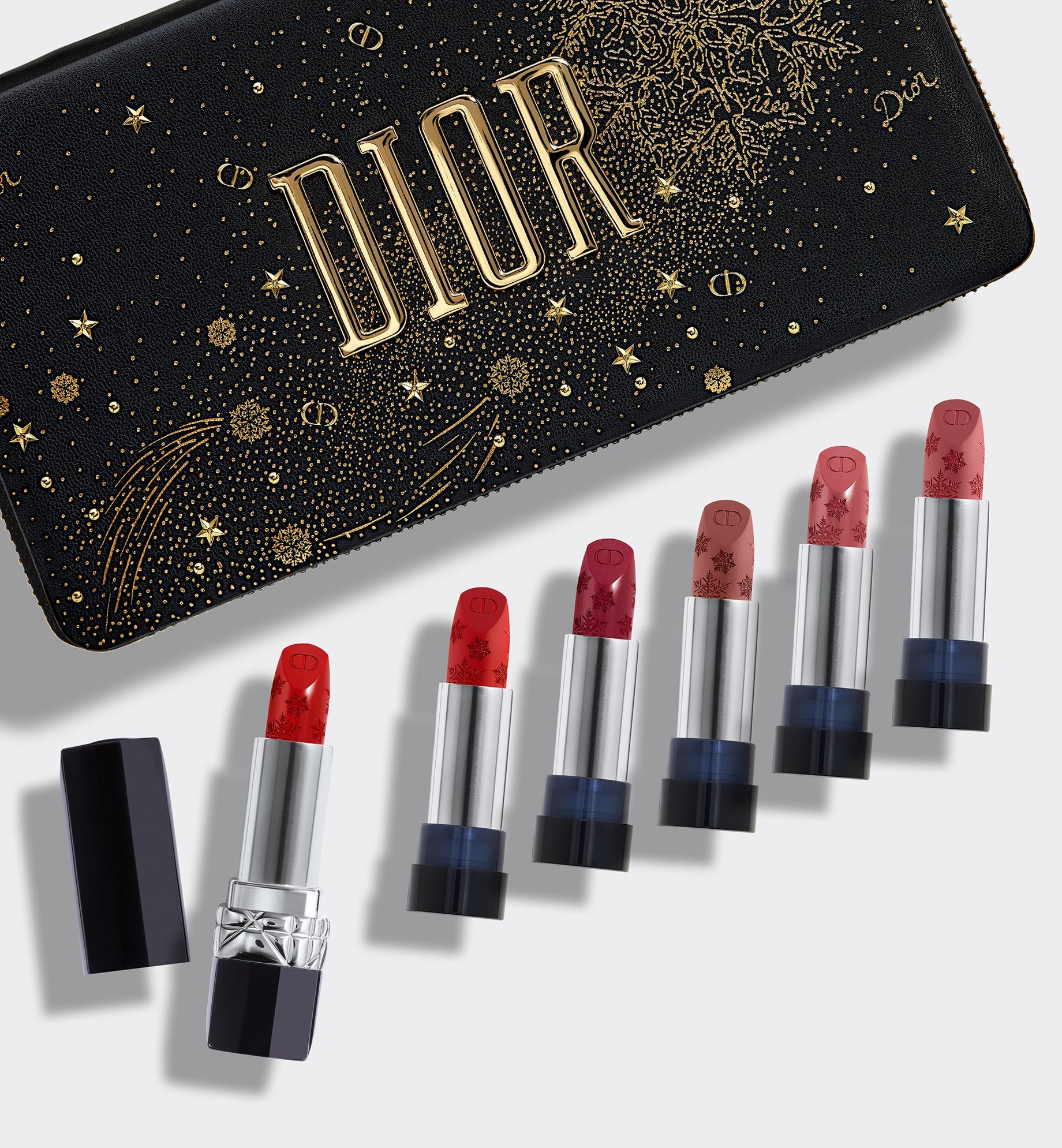 ROUGE DIOR COUTURE COLLECTION REFILLABLE LIPSTICK SET - 6 Shades of Lipstick