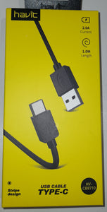 Havit USB kabelis Type-C
