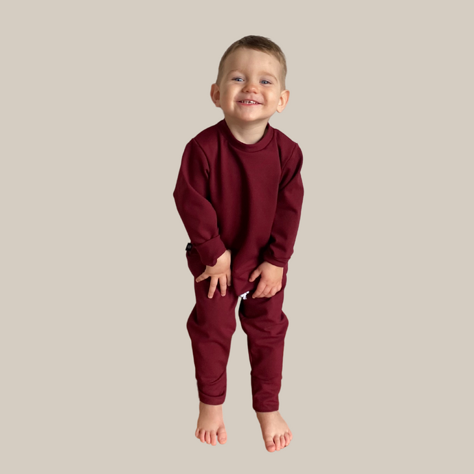 Mini Burgundy Crewneck