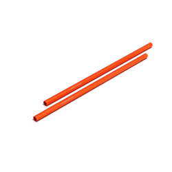 Steel Straws Orange