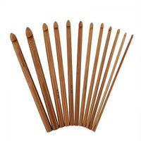 Bamboo Crochet Hooks in 12 different sizes