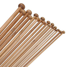 Load image into Gallery viewer, 36Pcs 18 Sizes Carbonized Bamboo Knitting Needles Set Single Pointed Smooth Crochet Tool