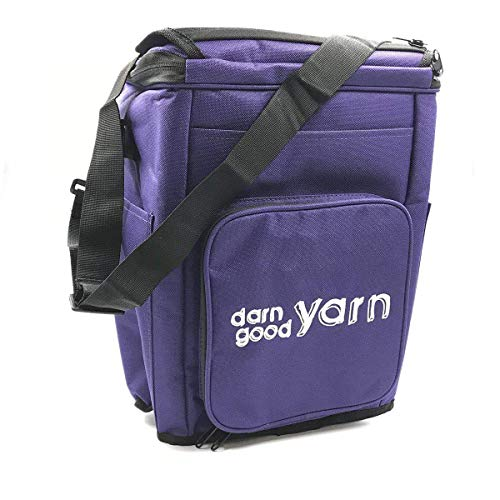Darn Good Yarn | Knitting and Crochet Yarn Storage Organizer with Cover and Inner Divider for Projects, Handy and Compact, The Bag with Multiple Pockets