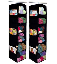 Load image into Gallery viewer, Innovative Home Creations 6-Shelf Yarn and Craft Organizer, Hanging Yarn Storage, Black, 4850-BLK, 2-Pack